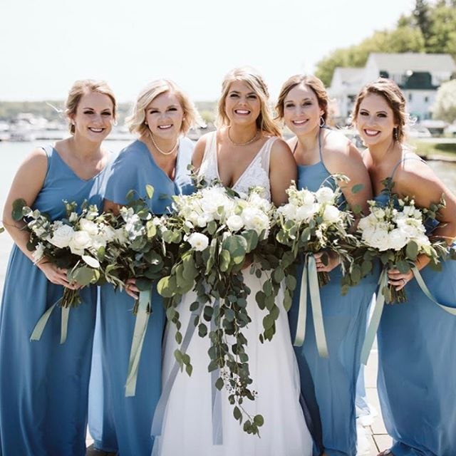 Summer is in full swing! Such an honor to work with wonderful brides! #summerwedding #michiganbride #upnorth