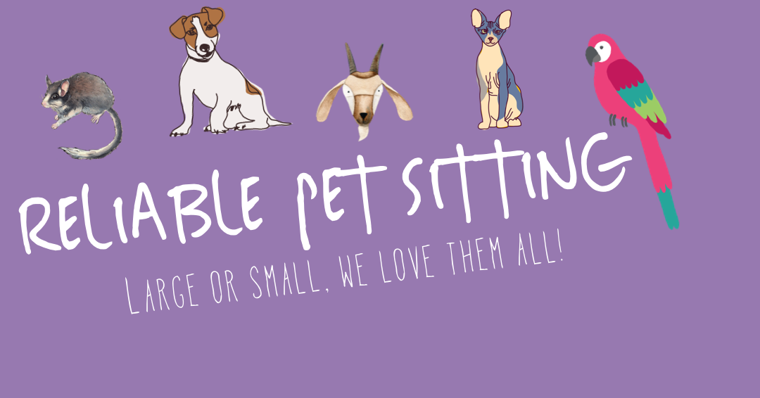 aReliablePetSitter.com - Robin and her sister have been in business for over 15 years providing in home care for pets of all shapes and sizes. Their services vary from cleaning small pets cages to providing medication for larger pets- They'll even bring in the mail!Serving the Following Areas:Orange, Villa Park, Anaheim Hills, Tustin, Yorba Linda and parts of Santa Ana Bonded and Licensed(714) 744-1438
