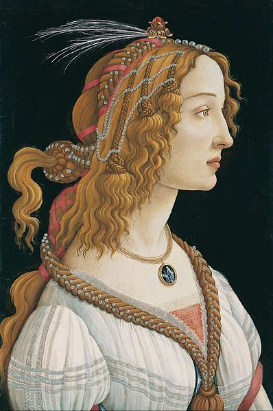 """Portrait of a Young Woman"" by Sandro Botticelli (probably)"