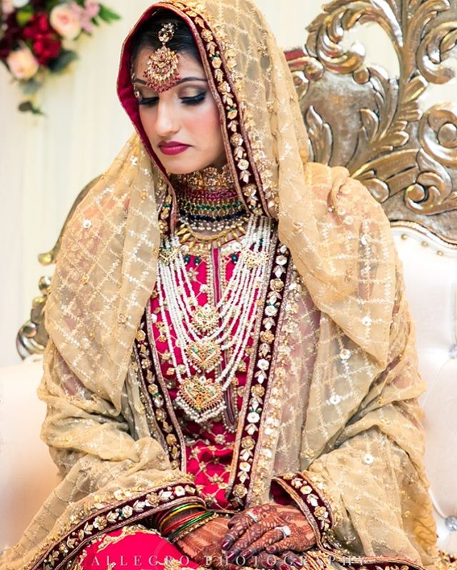 So beautiful! Hafsa on her wedding day 💕 Photography @allegrophotoboston