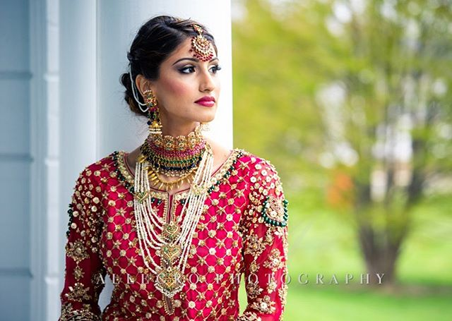I am blown away by these photos of Hafsa from @allegrophotoboston ...it was so much fun doing her makeup for her big day. I think you'll agree she looks absolutely stunning and I'm excited to work with everyone again for her upcoming American wedding in August. 💕
