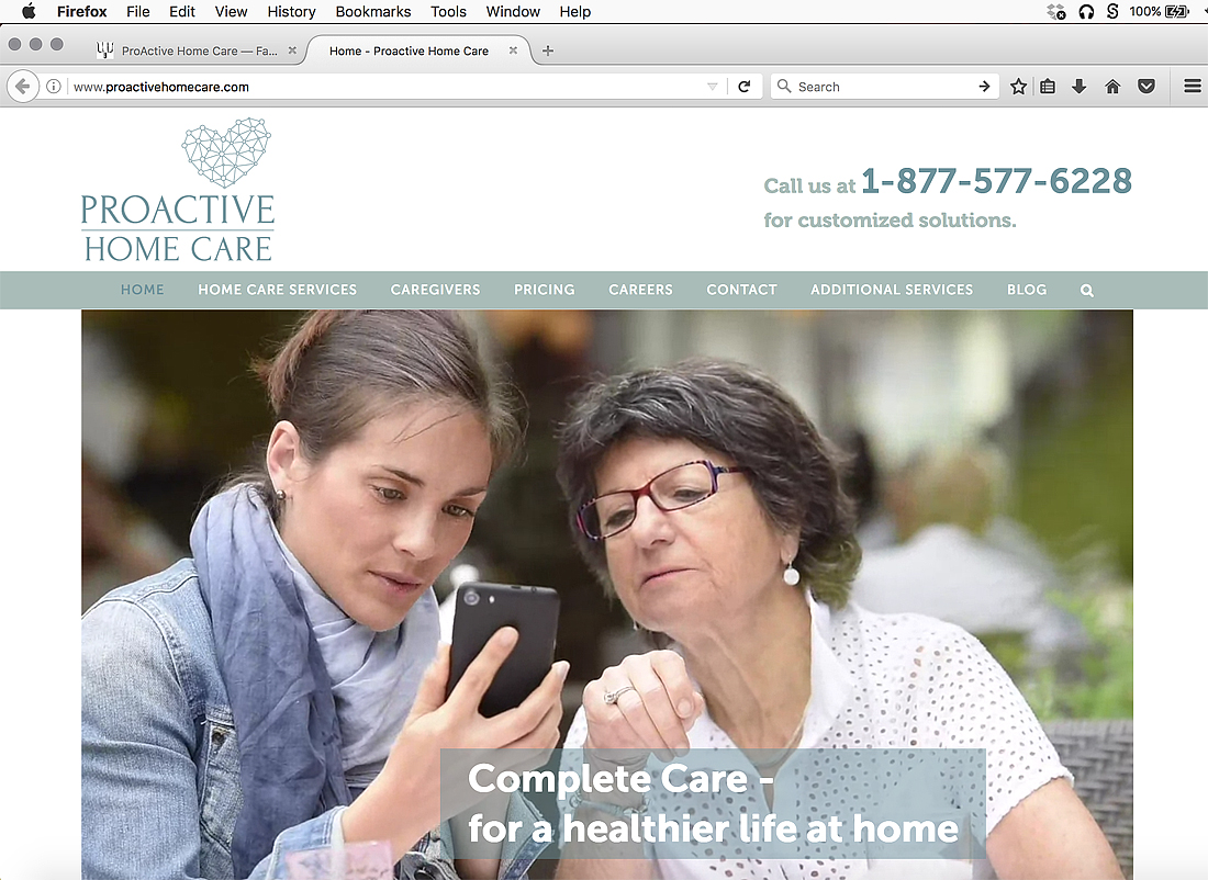 Web site for assisted living care