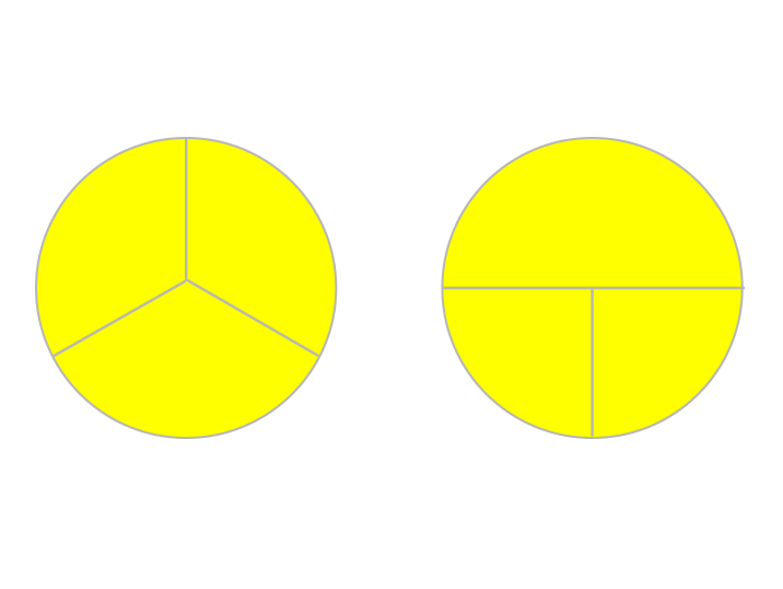 fractions-same-but-diferent-yellow-pies.png