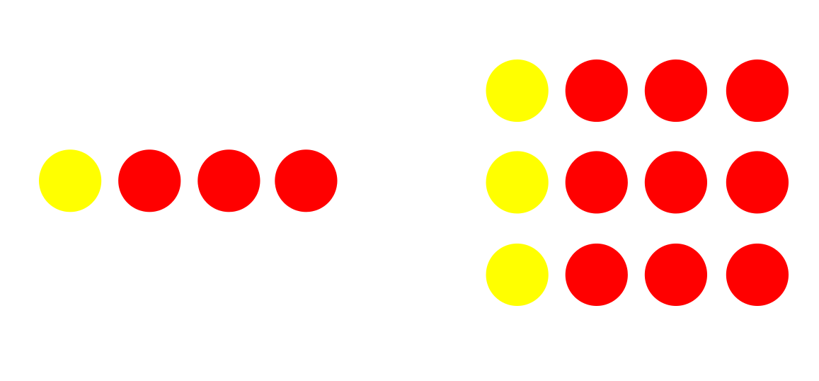 fractions-same-but-different-one-quarter-dots.png