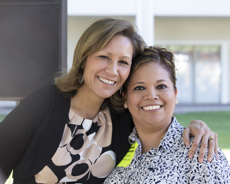 Amanda Renteria and SASS recipient Brenda Canchola