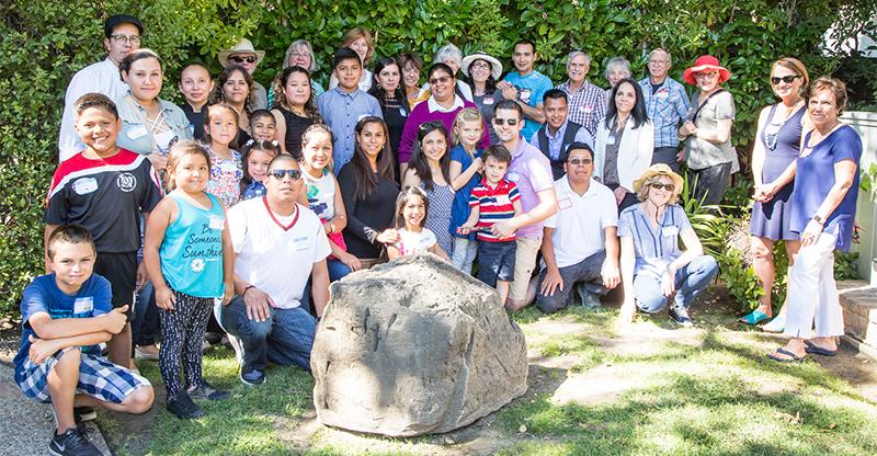 SASS tutors, students, and family members at the SASS tutor/student picnic.