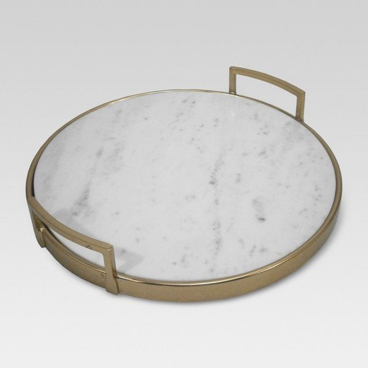 Gold and Marble Tray