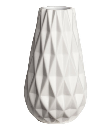 Textured White Vase