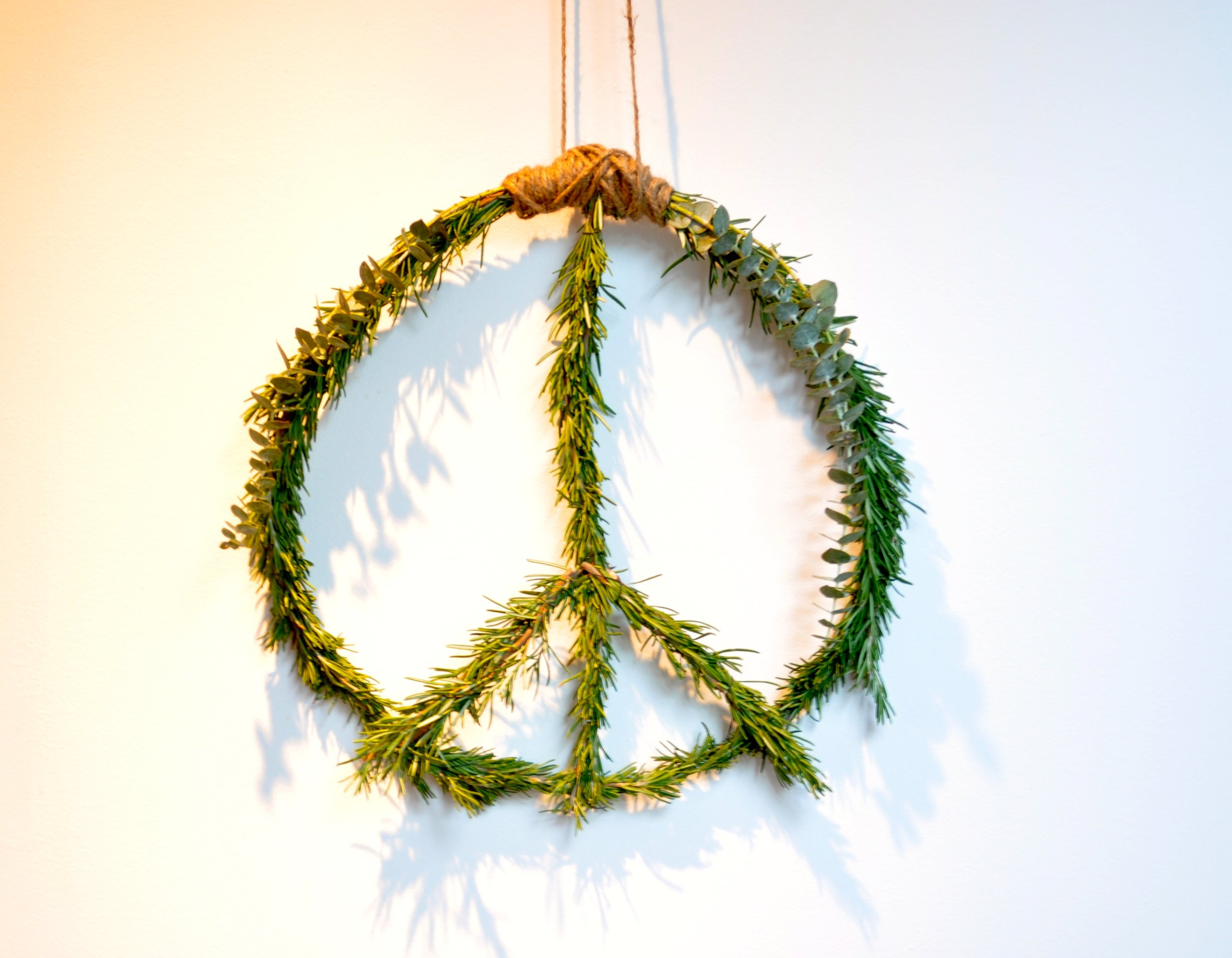 My DIY peace wreath that can be found  here .