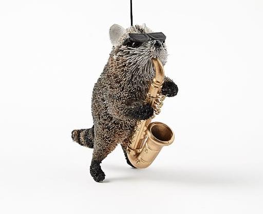 raccoon ornament