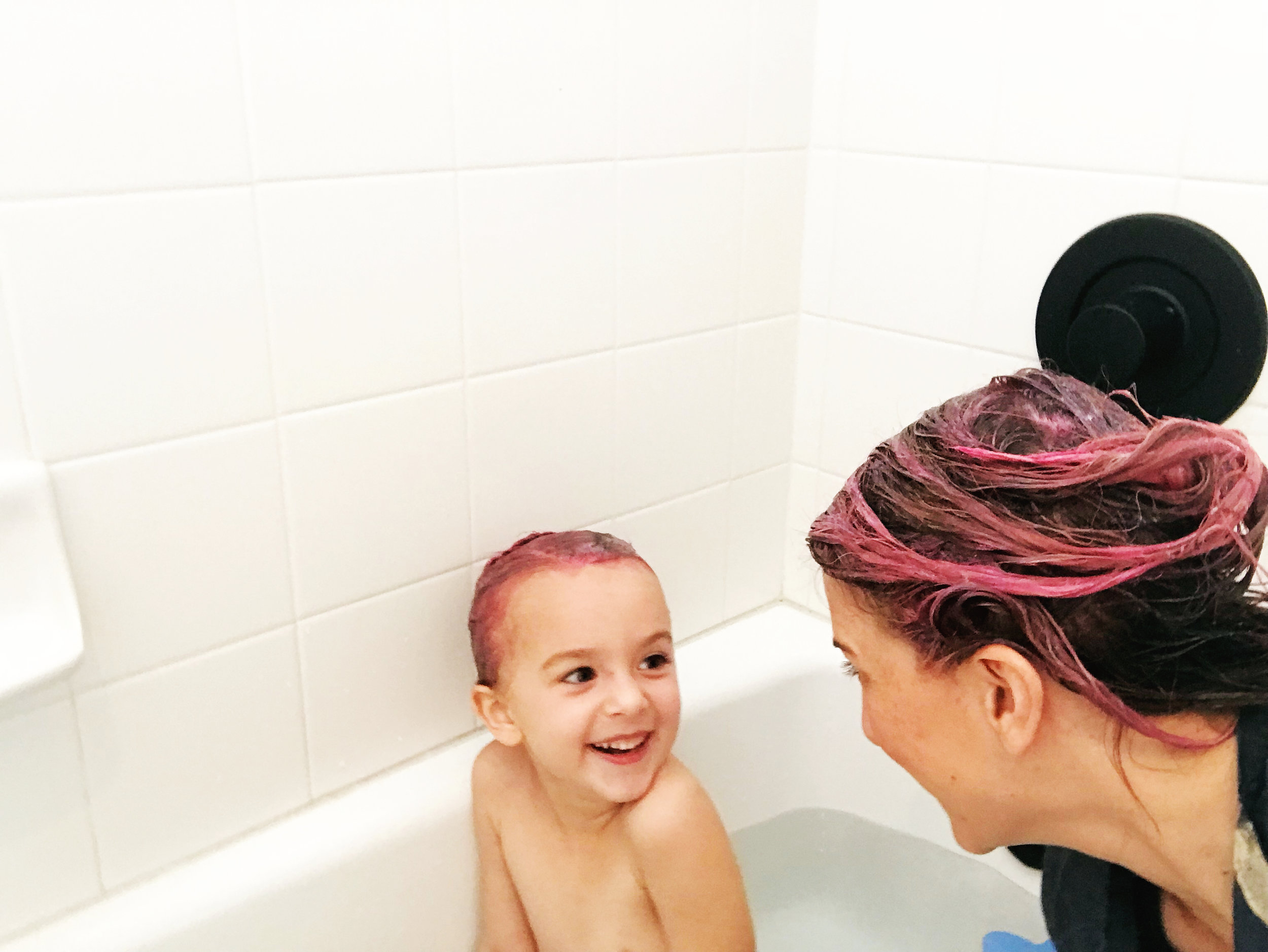 Dying our hair pink!