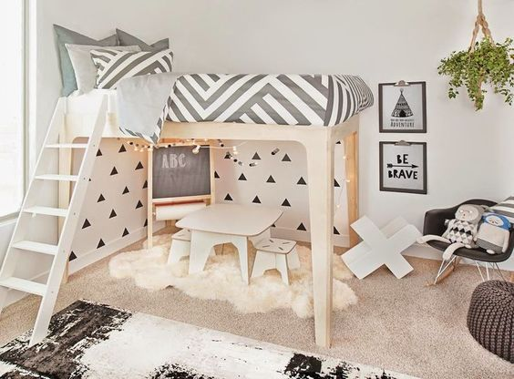 Image via Pinterest. Love the sleek and modern design of the bunk bed.