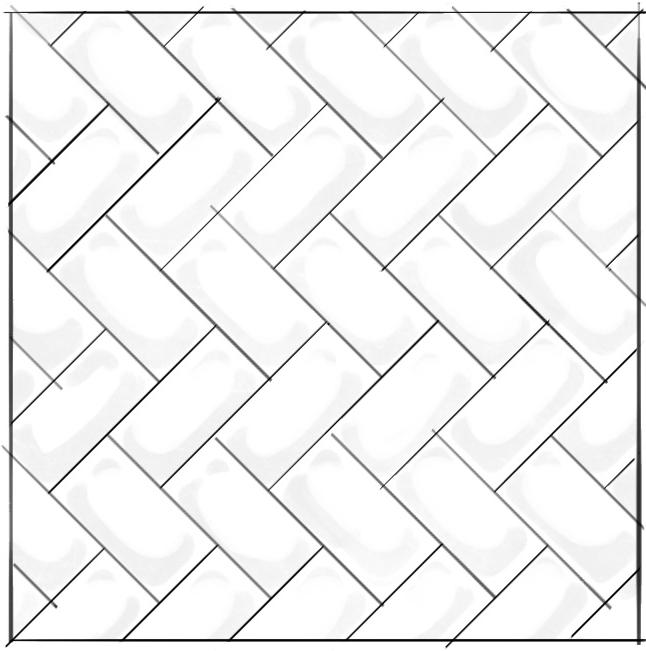 3) Diagonal Herringbone.