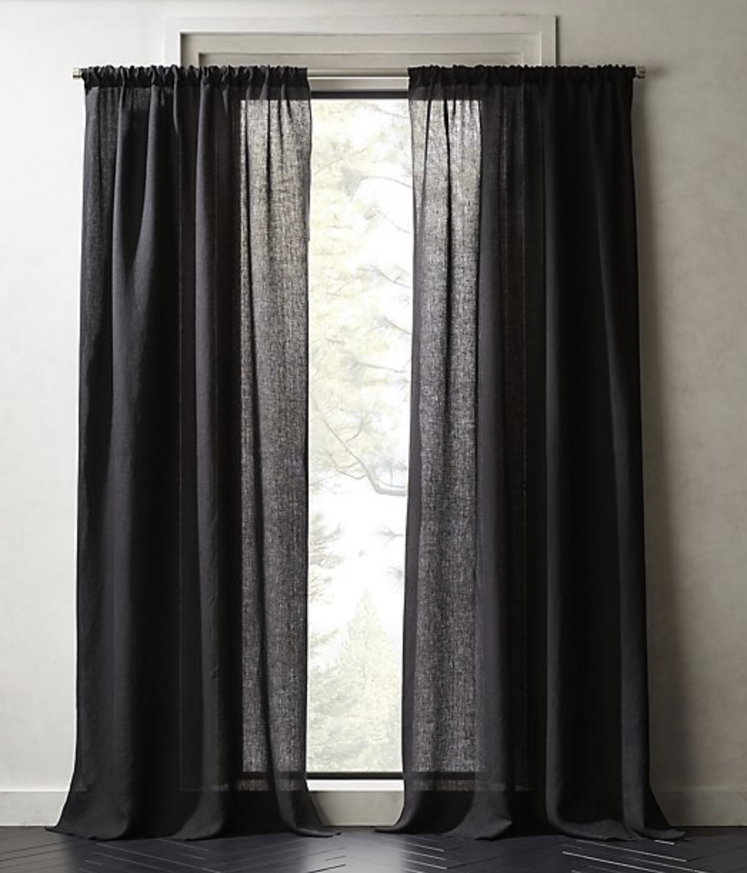 Linen Black Curtains