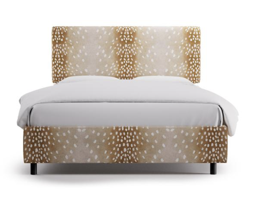 First up, is the Square back bed by The Inside. This bed comes in 91 different cute prints and colors, which makes it hard to just pick one. It starts at $599 for a twin, and goes up to $799 for a King, or California King.