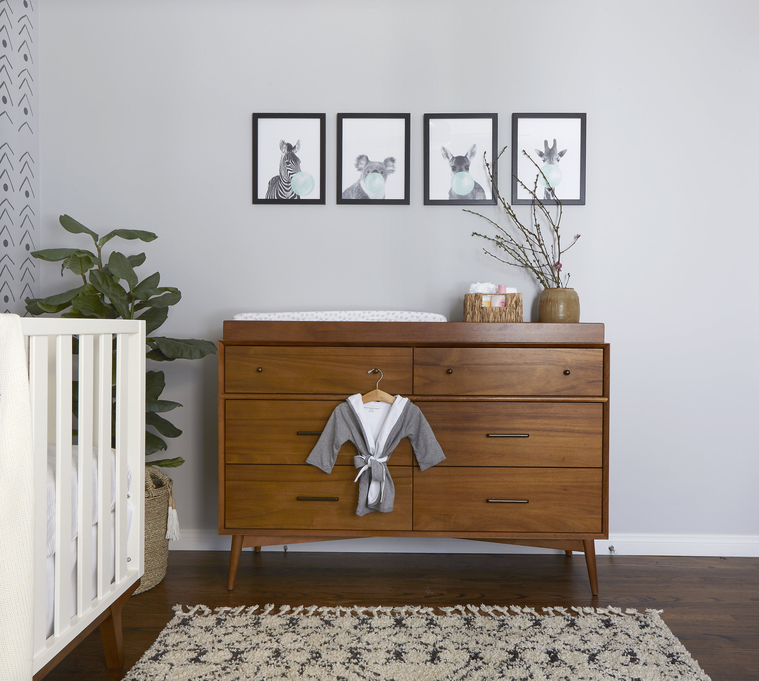 Mid Century Modern Changing Table