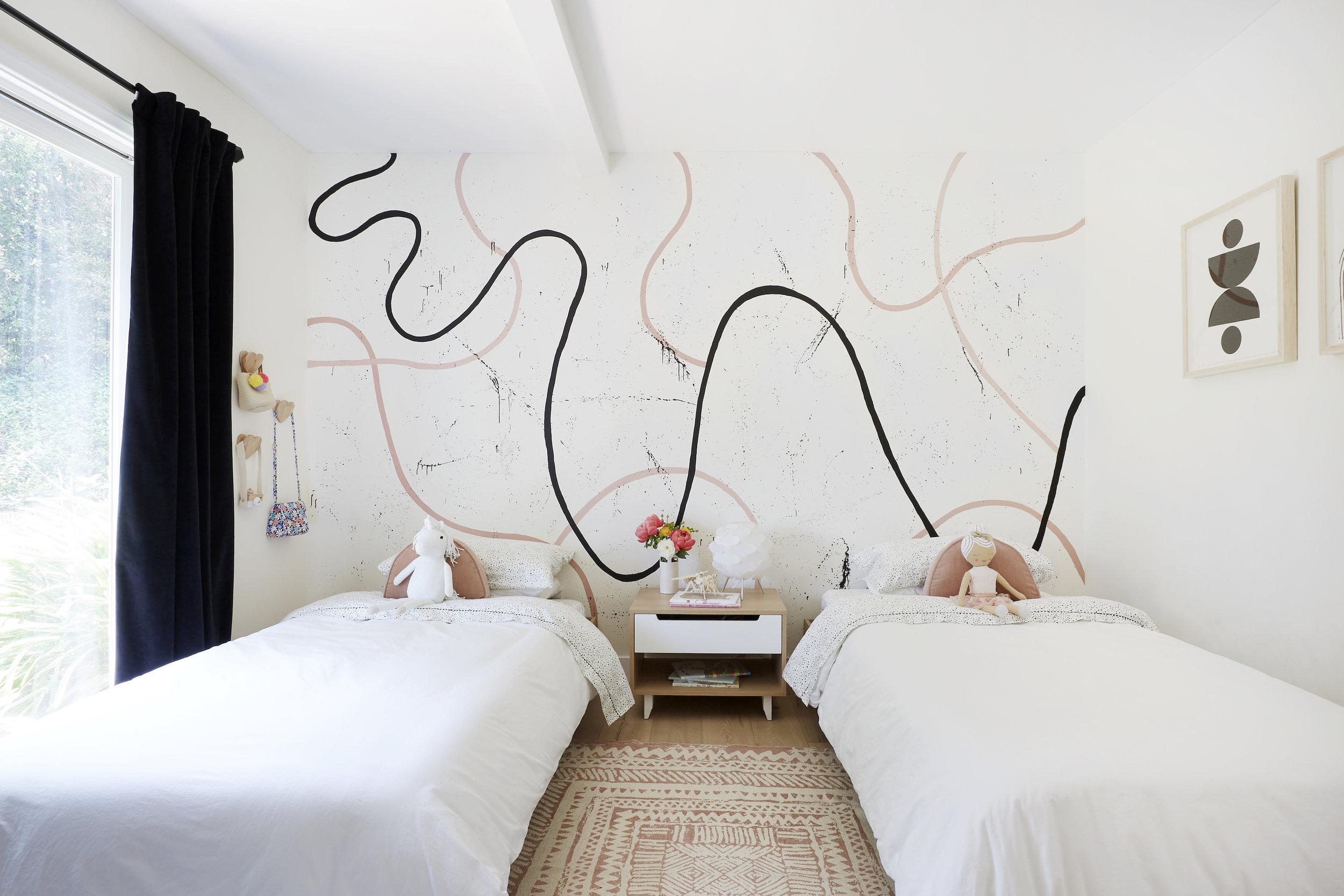 A modern girls bedroom