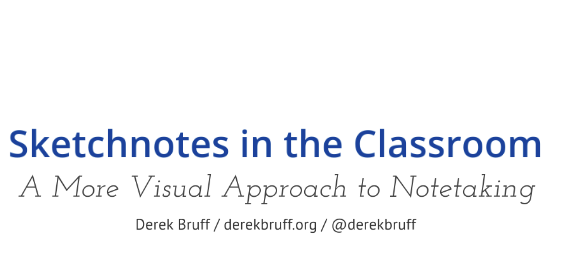 Derek Bruff's Sketchnotes in the Classroom -