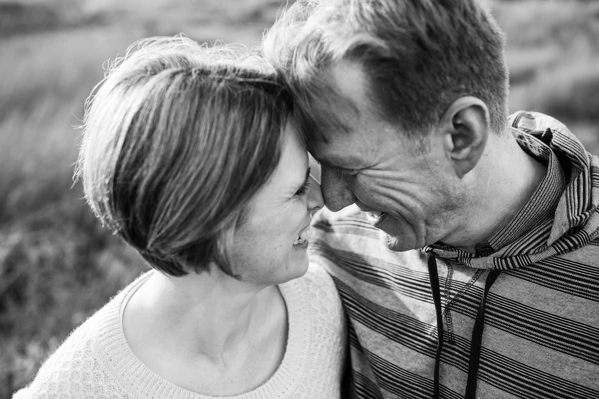 Couple Black and White photo family session.jpg