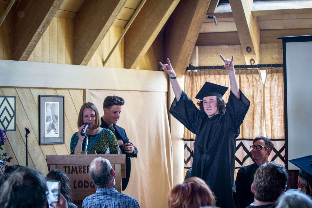 Dave was stoked to get his diploma