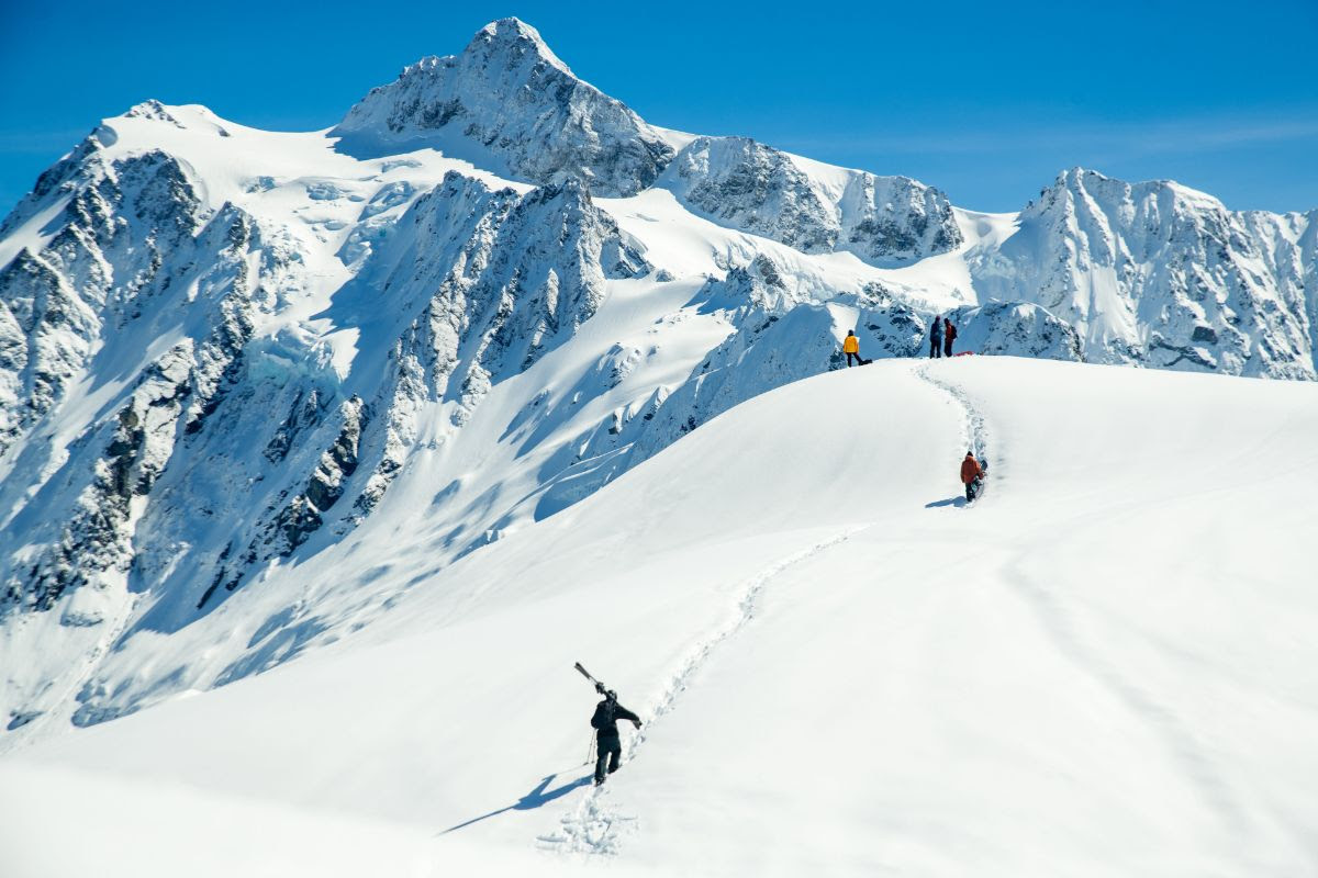 The Big Mountain team finding a line. Mount Baker, Washington