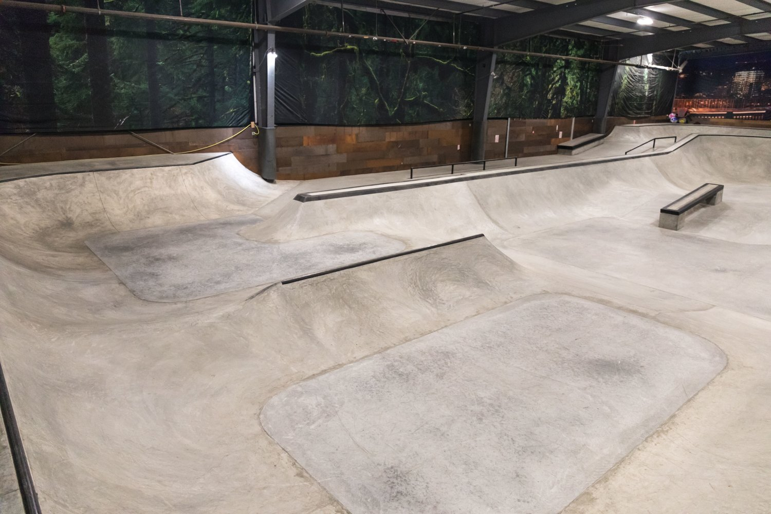 B.O.B - We are excited to announce that our indoor skatepark has been completely re vamped! The old wooden ramps have been replaced with concrete, there are Two Olympic size flybed trampolines, a super tramp, and an airbag, which are perfect for dialing in aerial maneuvers off snow. You won't want to miss out on what the new building has to offer!