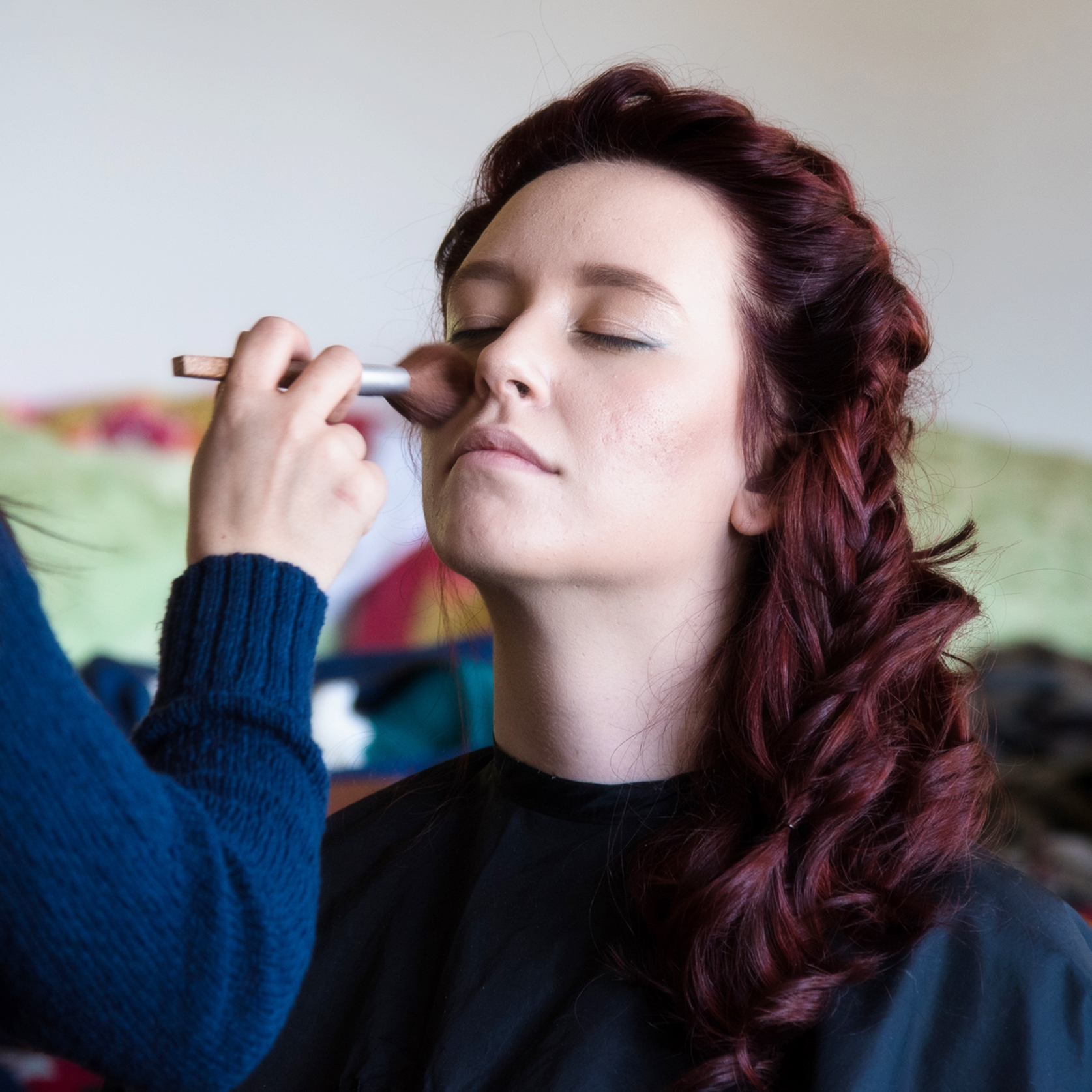 Holly getting makeup done-square.jpg