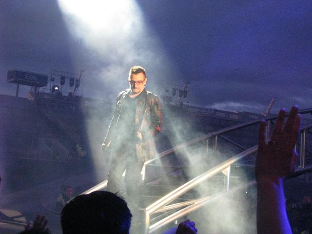 Bono, U2. Croke Park, Dublin, Ireland. July 25, 2009