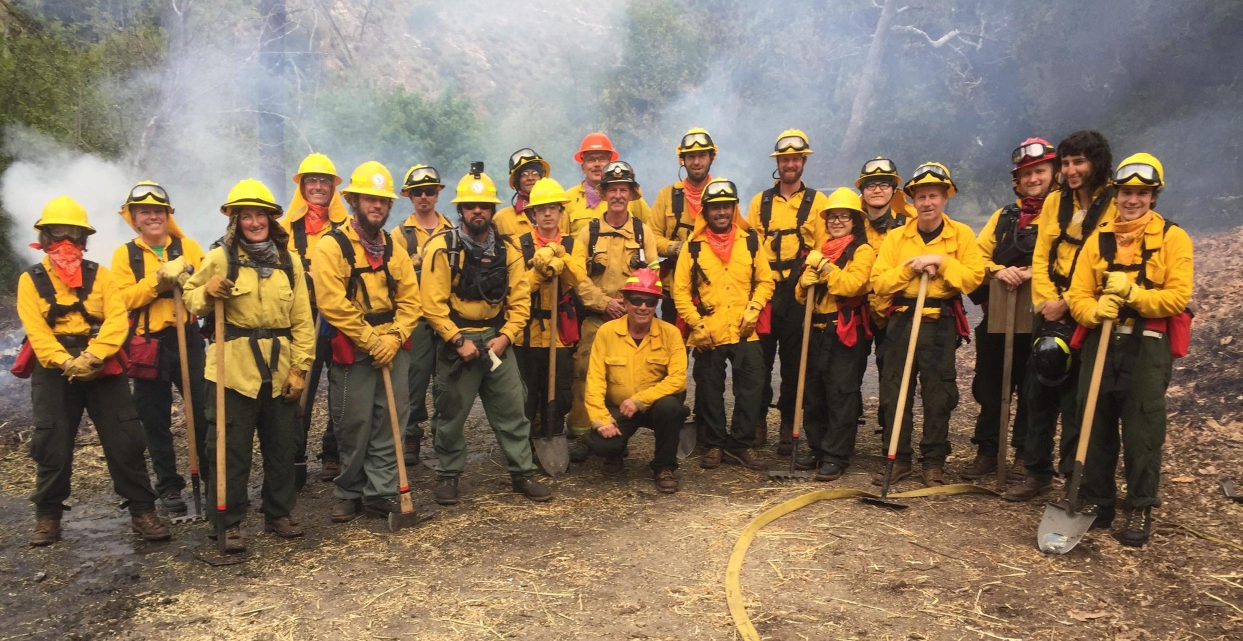 The Class of 2018 Tassajara Fire Academy. Photo courtesy Eric Moore, Central Coast Prescribed Fire Council.