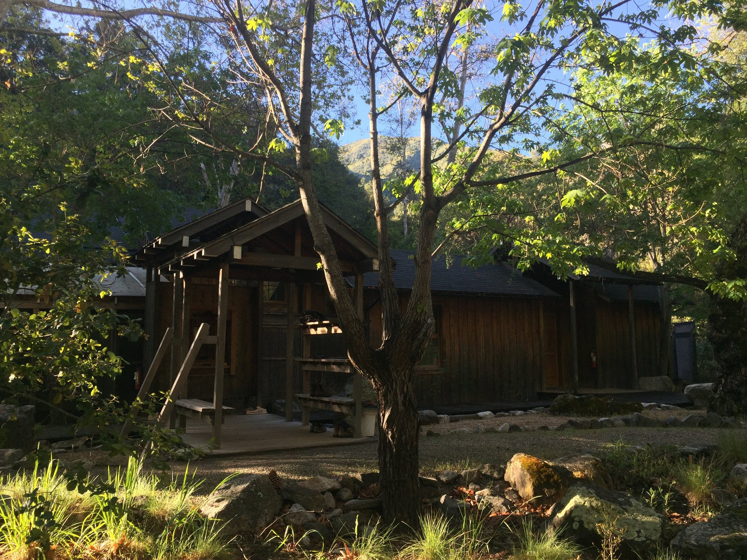 The bath house at Tassajara Zen Center.