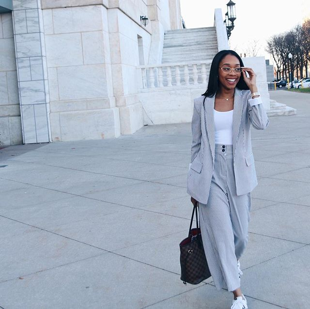 1) This is me trying to look important, yet fun, yet fashun, yet candid🤩  2) I almost took this set back because I didn't know if it made me look like somebody's cute grandma. Gotta add the *cute in there.  3) Hiiii! Since launching my YouTube channel, I've gained hundreds of followers on here. So here's a quick intro. I'm Erin Winters. Believer🙏🏽. Creative🌻. Full-time entrepreneur helping businesses connect the creative dots. Basically, I produce high quality video content for companies to promote their story and their business. I also consult on social media strategy to boost engagement and business consumption. Before that I was the Digital Correspondent at National Geographic. Once my contract expired, I moved back in with my parents to start this biz. It's been almost one year (🤯) and I'm still living a sane life without a consistent income (yet) 😂. I'm having fun creating the life of my dream.  4) Other things I loveeee: 👠fashunnn 🥐 restaurant bread 🏃🏽♀️ working out, to send the above bread to my booty 😂 🌍 Traveling 🍷 Wine 📕 Reading 👨👩👧👧 My family  If you're still dying to know more about me (sarcasm😂) I posted a new video on my channel - A Day In My Life As A Full Time Entrepreneur #linkinbio. It's a fun one.  LOVE YALL! 😘Hope y'all stick around.  #createyourlife #livewithpurpose #intentionalliving #embracechange #mindfulliving #mindsetcoaching #fempreneur #girlpreneur #buildingbosses #designyourlife #liveauthentic #liveyourtruth #trusttheprocess #taketheleap #mindsetiseverything #girlbossparty #goaldigger #goalgetter #blackandgoald #goalcrusher #empowerwomen #blackownedbusiness