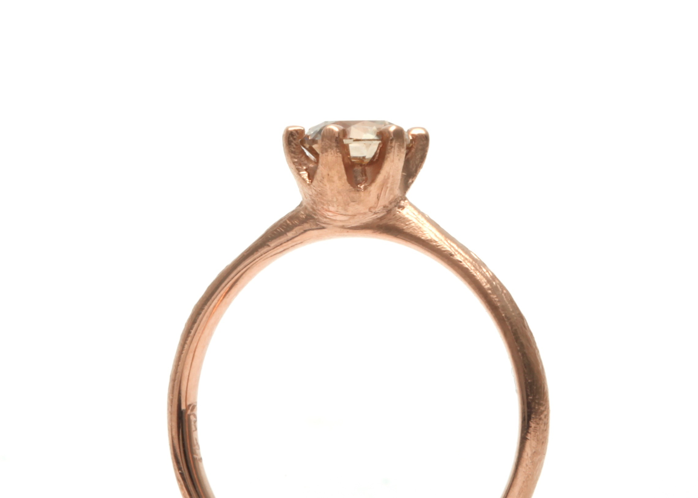 Stone Love Solitaire Ring - Rose gold with Champagne diamond -- available through  Pieces of Eight