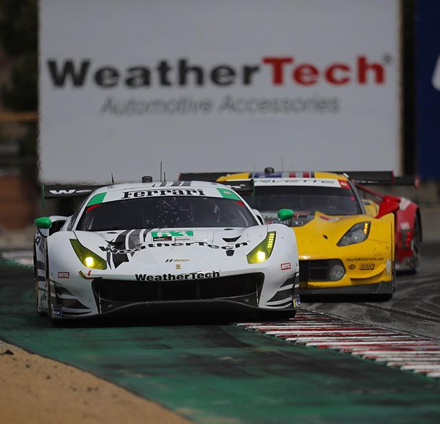 I just love the sound of a Ferrari 488 GT3 at high speed. This one was driven by @weathertech_racing drivers @toni.vilander and @coopermacneil to achieve a podium finish at this weekend's @imsa_racing event at @weathertechraceway Laguna Seca! If I can find a team to work with for 2020, I'd love to shoot more IMSA race events. This weekend was fun!