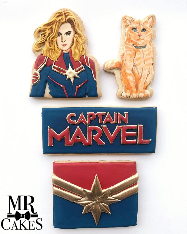 So glad we were able to take part in the release of @captainmarvelofficial blue ray dvd release today with @alliedsandiego Have we mentioned how much we #love #captainmarvel 🤗🤗🤗 #captainmarvelcookies #marvel #sugarcookies #customcookies #cookiesofinstagram #instagramcookies #sandiego #hillcrest #hillcrestbakery #sdbakedgoods #mrcakes #mrcakesusa #thehusbands #husbandsthatbake #husbandsofinstagram #foodnetwork #sandiegobakersclub #superhero #goose #goosethecat