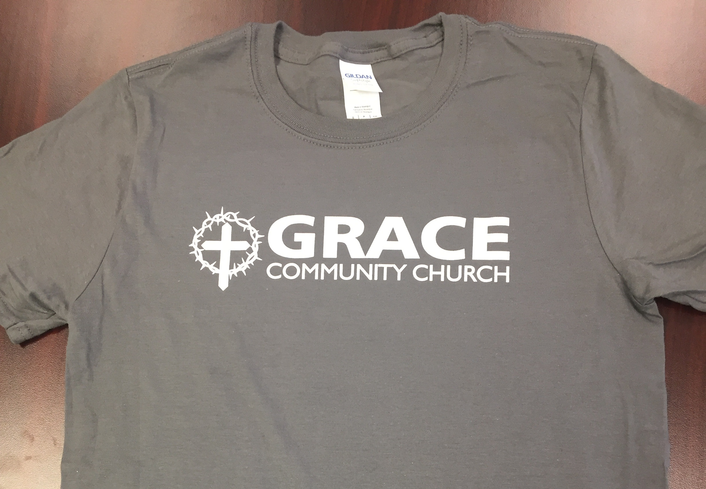 Logo t-shirt in Gray $15 - To purchase, please complete the form below.