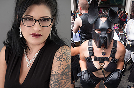 Ms. Cat is a fierce Femme Top and a Leather Mommy with 15 yrs experience within BDSM. As an experienced handler to pets and exotic animals, She enjoys animals who seek to explore their inner primal further and pets that want to learn a new trick! I has chew toys!  Kaycee Pup is a SF tomboyfemme puppygirl. During her 5 years of community service she held the title of Ms. ACL 2015 and now serves her Ma'am as 'guard puppy'. She enjoys things that go squeak and is easily distracted by a hot pair of boots to sniff!