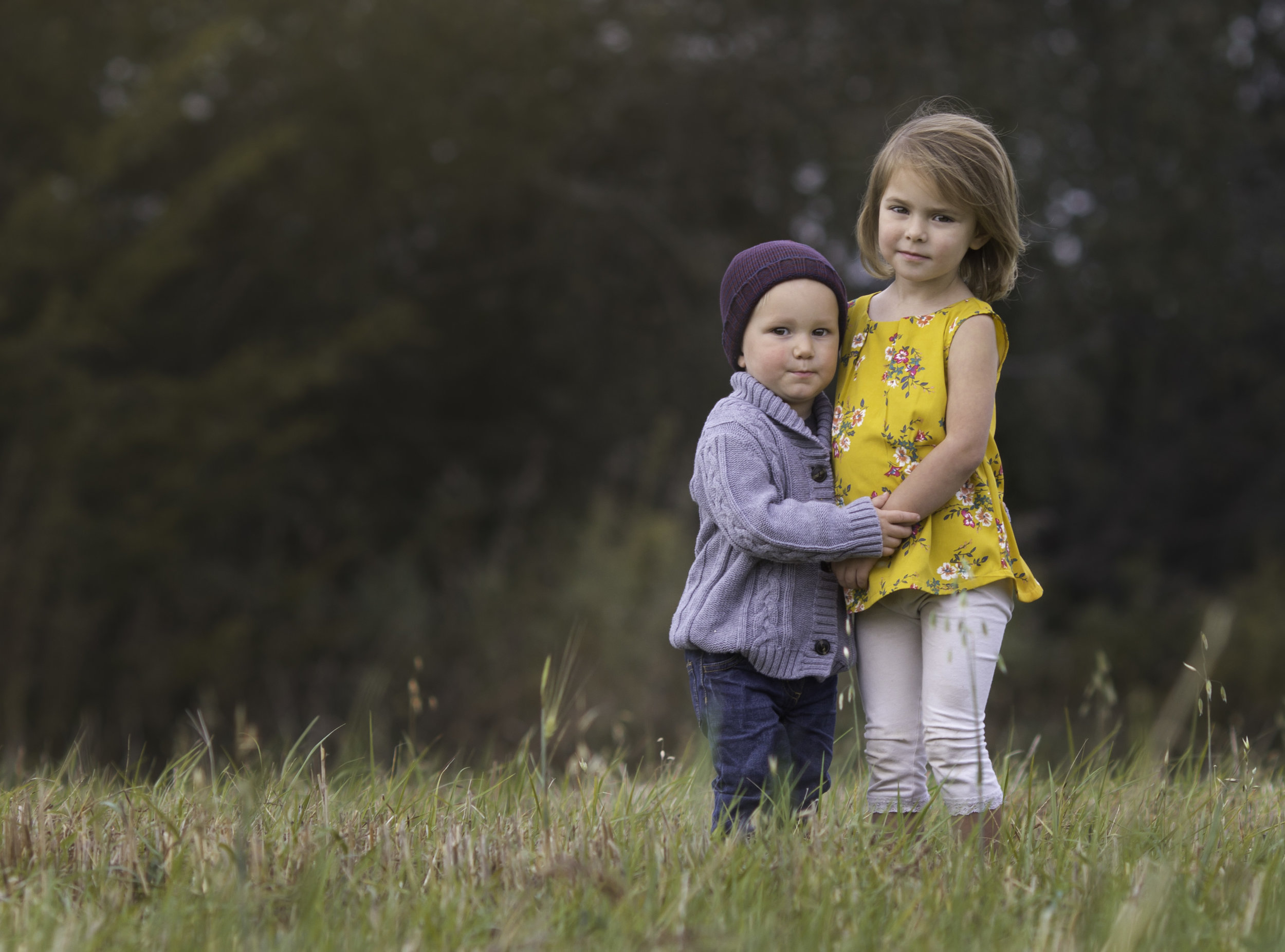 toddler boy and girl hugging  belleville family photographer