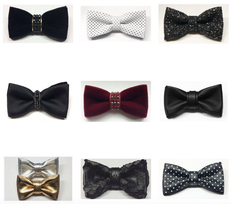 Unique handcrafted leather bowties by DLeakLeatherBowties    Market Value: $50-$200    Starting Bid: $75