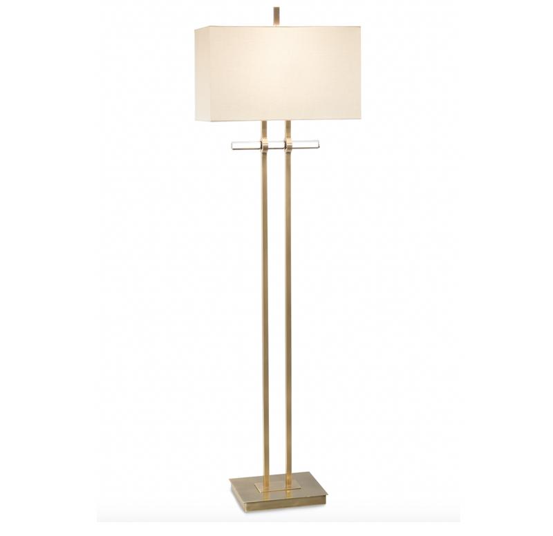 Brass & Glass Floor Lamp