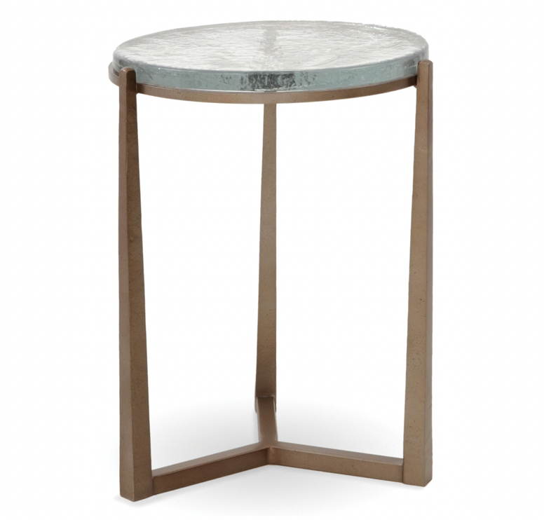 Cast glass drink Table