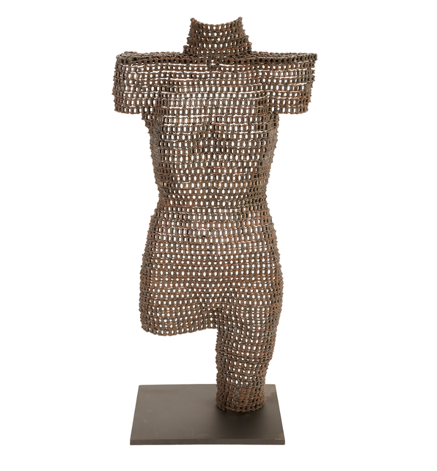 Chain Torso Sculpture