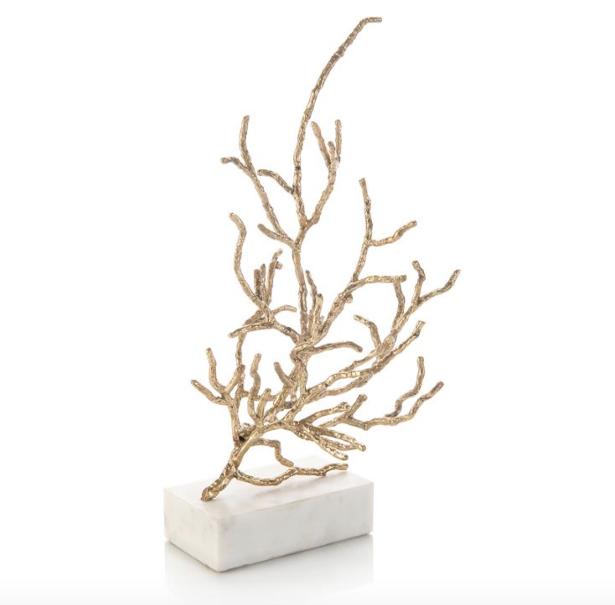 Brass Coral Sculpture