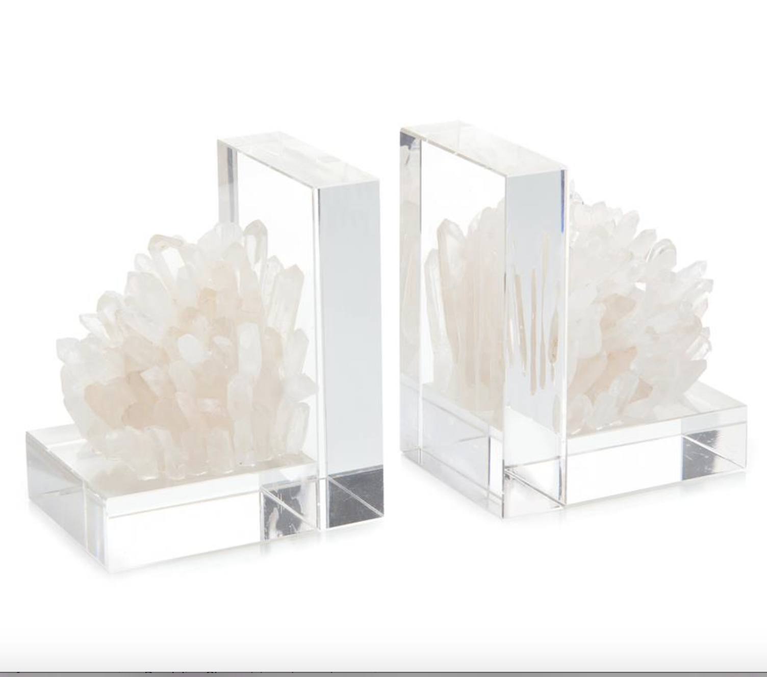 Quartz Crystal Bookends