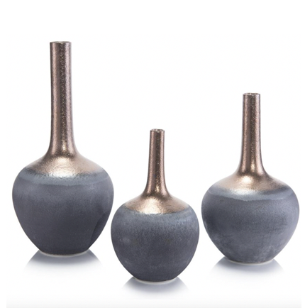 Dusty Glazed vases