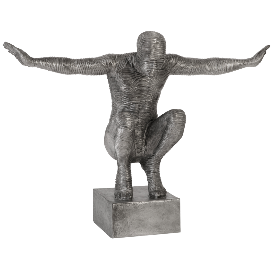 Squatting Man Sculpture
