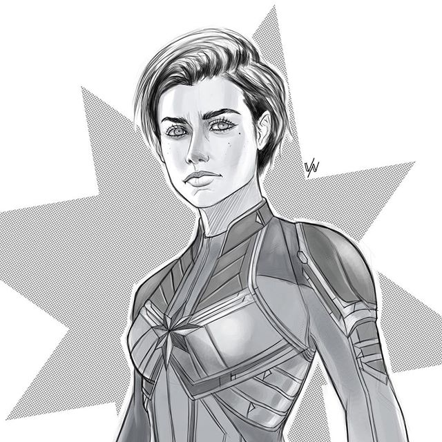 I hope you've seen Endgame by now.  Because Captain Marvel. Short Hair. Kickin Ass. 💪🏽💥🔥🙌🏽 #shorthairdontcare #captainmarvel #avengersendgame #endgame #caroldanvers #marvel #marvelcomics #art #artist #doodle #sketch #sketchoftheday #dailysketch #sketchbook #drawing #draw #dailyart #painting #digitalpainting #digitalart #photoshop #photoshoppainting #wacom #cintiq #wacomtablet #wacomcintiq #heroes #illustration  #comicart #instaart