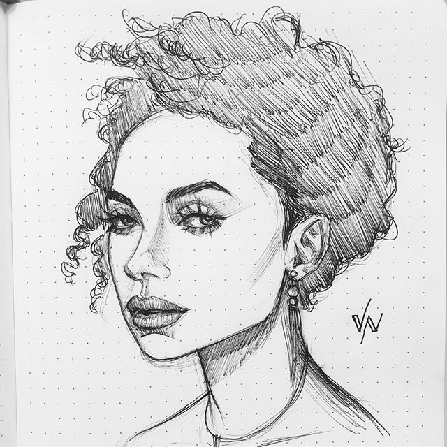 Knocking one out before the weekend.  #meetingdoodle #meetingdoodles #girlart #art #artist #artoftheday #doodle #sketch #sketchoftheday #dailysketch #sketchbook #inksketch #inksketches #illustration #drawing #draw #dailyart #penandink #pen #ink #ballpoint #instaart #illustration #loganbrowning #portraitdrawing #portraitsketch