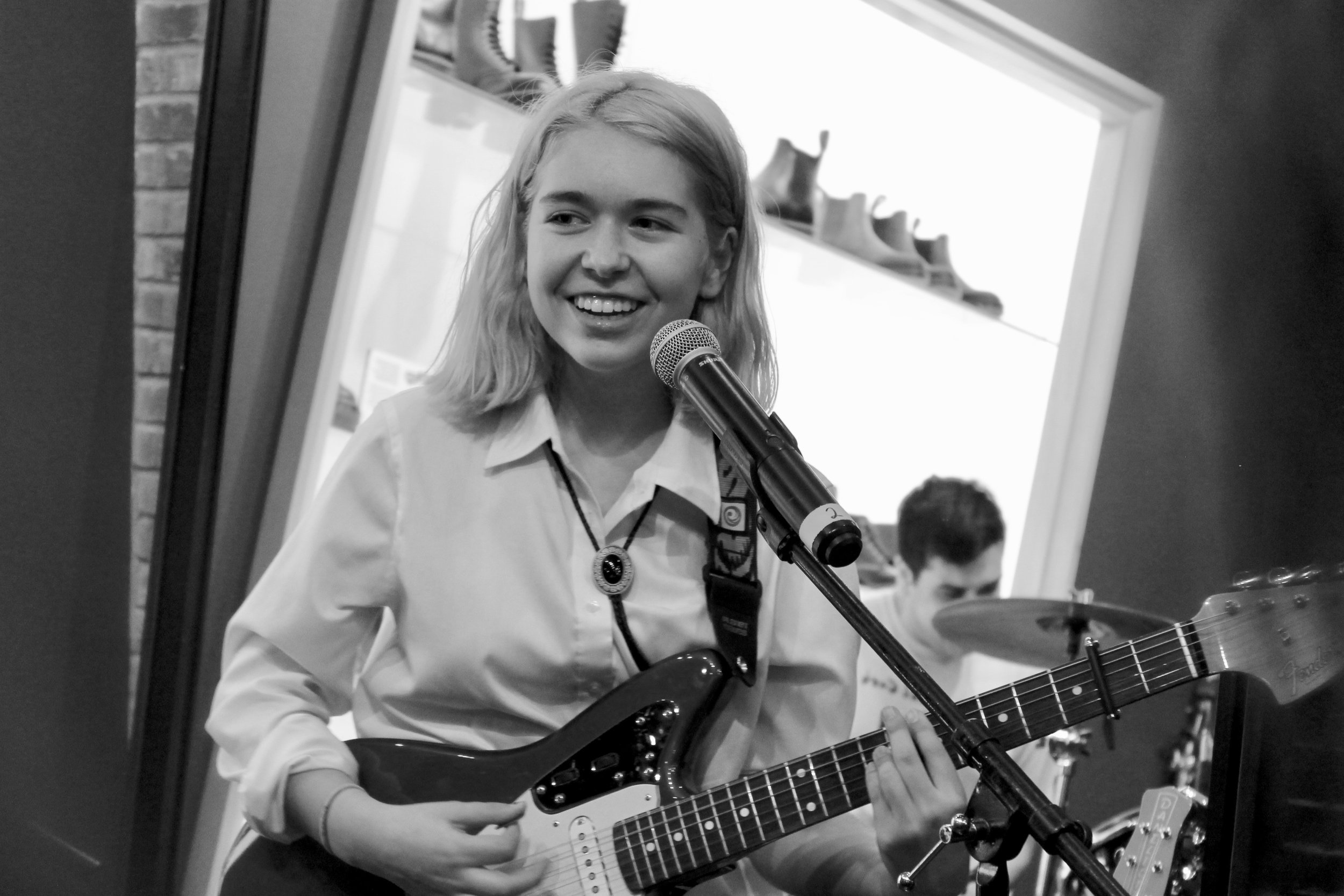 Snail Mail @ Dr. Martens Georgetown - On November 2nd, Snail Mail played a free show at the Dr. Martens store in Georgetown. The event, which took place in a shoe-box shaped storefront, felt more expansive than the compact and crowded room would have seemingly allowed. This theme is strikingly similar to the band itself.