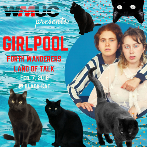 Girlpool + Forth Wanderers + Land of Talk @ Black Cat - Earlier this month, the radio station I work for, WMUC, was given the opportunity to present a show at the Black Cat. To my delight it was a Girlpool show, with Land of Talk and Forth Wanderers opening.