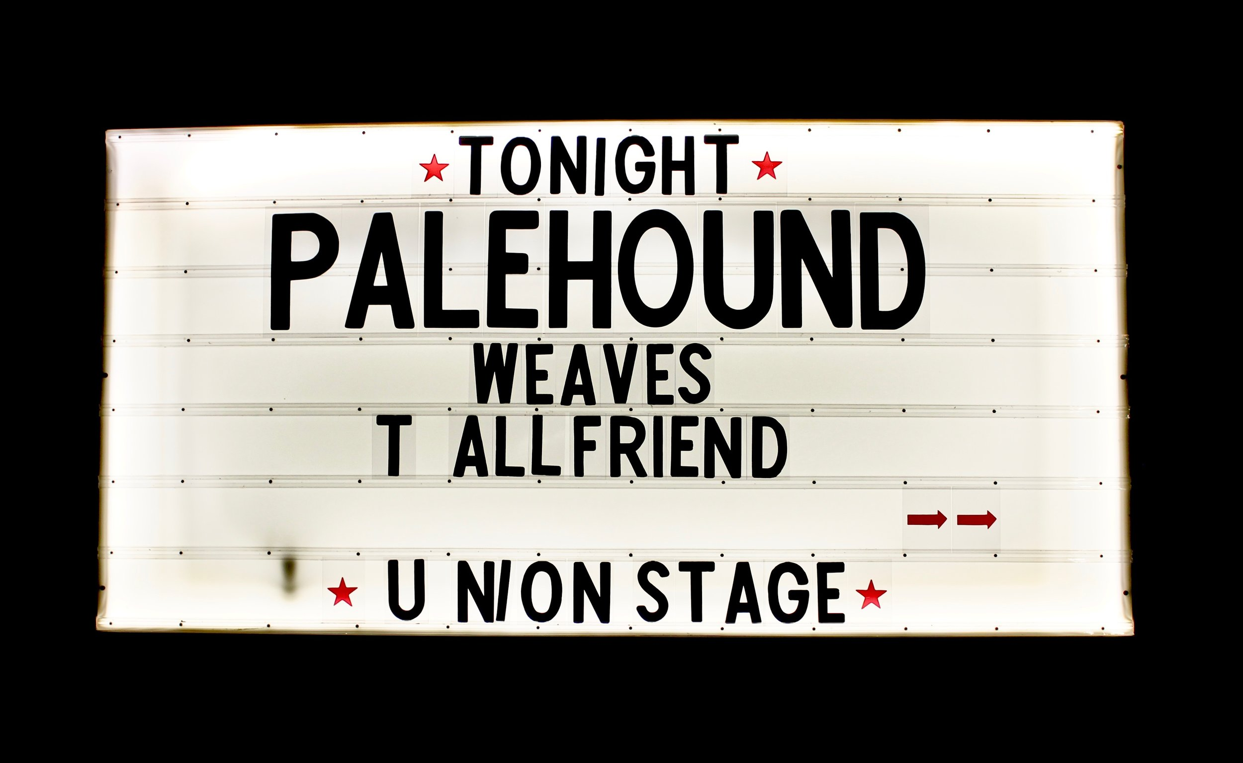 Palehound + Weaves @ Union Stage - When I went to see Palehound and Weaves on February 10th, it was my first time [at Union Stage] and I was completely blown away- both by the amazing lineup of musicians and the space itself.